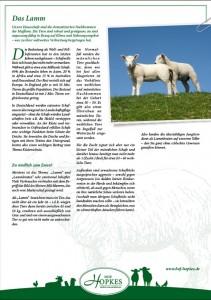 Hof Hopkes Kundeniformation Lamm