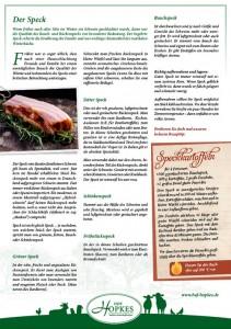 Hof Hopkes Kundeniformation Speck